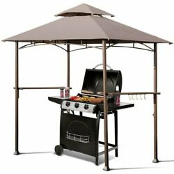 Outdoor Barbecue Grill Gazebo Canopy Tent Backyard Patio Bbq Shelter Family Tent