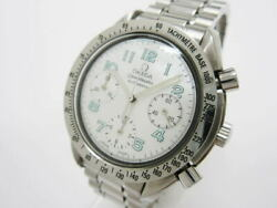 Omega Speedmaster 3802.71 Automatic White Shell Dial Stainless Mens