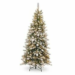 Lit Artificial Christmas Tree   Includes Pre-strung White Lights And Stand  