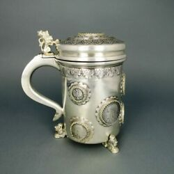 Manduumlnzhumpen Cover Glasses With Coins Medals In Solid Silver
