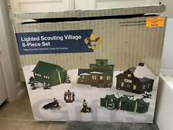 Boyscouts Of America Lighted Village Kit New/open Box Christmas Village