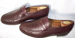 Renzo Favero Sz 11 Us 10 Uk Brown Soft Calfskin Leather Loafers Shoes Italy