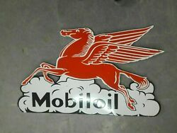 Porcelain Mobiloil Enamel Sign Size 25 X 42 Inches Double Sided