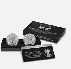 American Eagle 2021 One Ounce Silver Reverse Proof Two-coin Set Presale