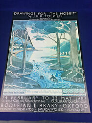 Drawings For The Hobbit J.r.r. Tolkien Exhibition Poster Lotr 50th Anniversary