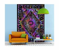 Psychedelic Celestial Sun Moon Tapestry Planet Bohemian Tapestry Wall Hanging...