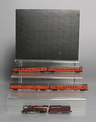 Con-cor N Scale Gulf Mobile And Ohio Steam Loco And Tender W/ 8 Passenger Car Set