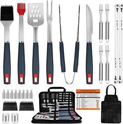 Bbq Grill Accessories Heavy Duty Grill Utensils 31 Pcs Set Extra Thick