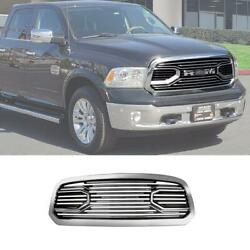 Front Bumper Grille For 2013 -2018 Ram 1500 Big Horn Chrome Style W/ Letters