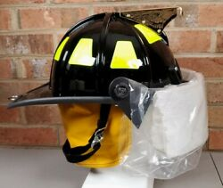 2014 Cairns And Brother 1010fsb Fire Fighter Helmet Firefighter W Face Shield New