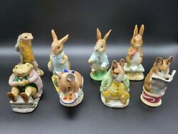 Beatrix Potter Porcelain Figurines Made By F. Wayne And Co. In Beswick England