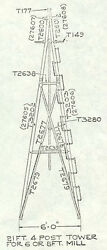 21ft Windmill Tower For 6ft/8ft Chicago Aermotor Style 602 And 702 Windmill