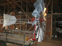 Aermotor Windmill Rebuilt 6ft X-702, Complete From Pump Rod And Mast Pipe Up