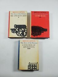 Bruce Catton The Army Of The Potomac Civil War Trilogy Hardcover First Editions