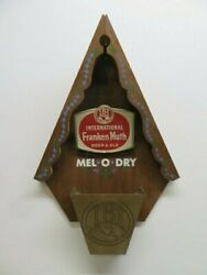 Vintage Ibi International Frankenmuth Beer And Ale Mel O Dry Wooden Wall Sign