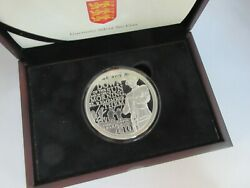 2014 £10 Silver Proof 5 Oz Coin Anniversary Of Wwi 1914 - 1918 Guernsey