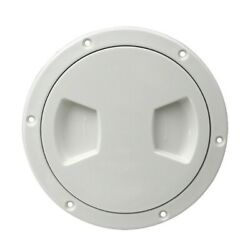 1 Pc New 5 White Inspection Plate Boat Deck Screw Out Hatch Access Cover Rv Abs