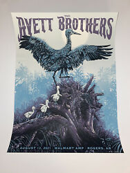 The Avett Brothers Poster Rogers Ar 2021 Silkscreen S/n Official Sold Out