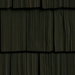 Foundry 10 Inch Staggered Shake Vinyl Siding Musket Brown