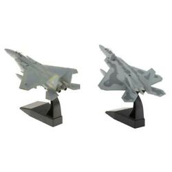 2x 1/100 Scale F-22 Plane And F-15 Diecast Military Model Office Ornaments