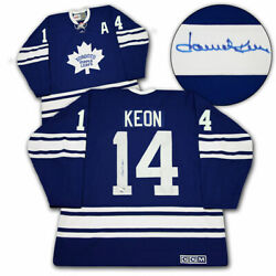 Dave Keon Toronto Maple Leafs Signed 1967 Stanley Cup Vintage Ccm Jersey