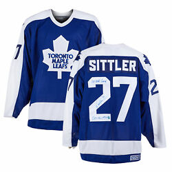 Darryl Sittler Toronto Maple Leafs Signed And Dated 1st Goal Vintage Ccm Jersey