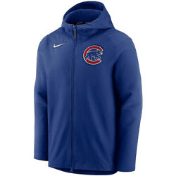 New Mlb 2021 Chicago Cubs Nike Authentic Collection Pregame Full-zip Hoodie Nwt