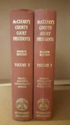 Mcclearyand039s County Court Precedents 4th Ed Complete Set Of 2 Vols Hardcover