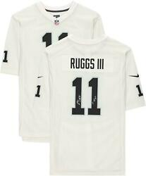 Henry Ruggs Iii Las Vegas Raiders Signed Blue Game Jersey And 1st Vegas Pick Insc