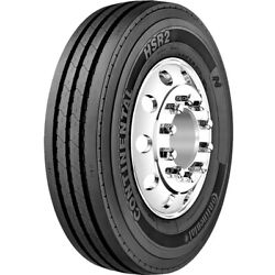 4 Tires Continental Hsr2 11r22.5 Load H 16 Ply Steer Commercial