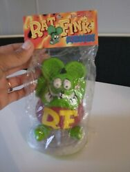 Rat Fink Latex 5 Inch Squeezie New In Sealed Package