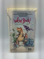 We're Back A Dinosaur's Story Vhs,1993, Clamshell Steven Spielberg