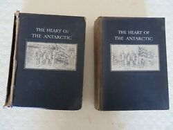 The Heart Of The Antarctic E.h. Shackleton 1st Edition 1909 2 Volume Set