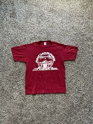 Vintage Made in USA Anchorage Alaska Red Single Stitched T Shirt Size Large