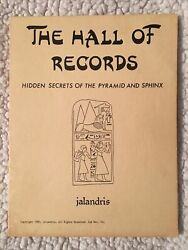The Hall Of Records Hidden Secrets Of The Pyramid And Sphinx By Jalandris