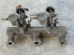 Vintage Offy Offenhauser Dodge/plymouth Flathead Intake Manifold 6 Cyl. 218-230