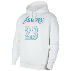 New 2021 Lebron James Los Angeles Lakers Nike City Edition Name And Number Hoodie