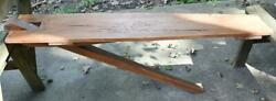 Antique Vtg Primitive Wall Mount Wooden Ironing Board Table Cocktail Drink Bar