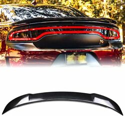 Acmex Rear Trunk Spoiler Wing For Dodge Charger 2011-2020 Carbon Fiber Style