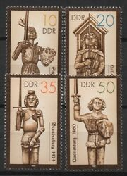 Germany Ddr 1987 Sc 2579-2582 Mint Mnh Statues Roland Hero Knight Sword Stamps