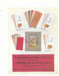 Antique District Of Columbia Paper Mfg Co Advertising Ink Blotter Paper Mar 1908
