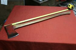 Vintage Unmarked Red Axe Antique Cutting Logging Tool Farm Logger Tools 4.8