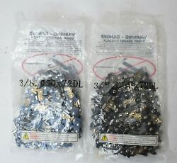 Lot Of 2 20 Replacement Chainsaw Chain Saw Blade 3/8. 050x72dl