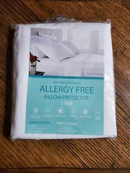 Allergy Free Pillow Protectors 300 Thread Count 2 pack Queen Size 20x30quot;