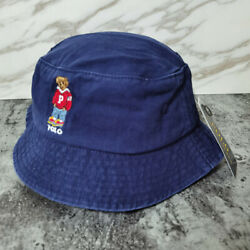 POLO RL Bucket Hat Embroidered Polo Hoody Bear RL Navy Blue Casual Man Hat $19.99