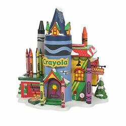 Department 56 North Pole Series Crayola Crayon Factory Lighted Building 6007613