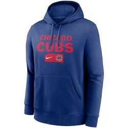 Brand New 2021 Mlb Chicago Cubs Nike Team Lettering Club Pullover Hoodie Nwt Chi