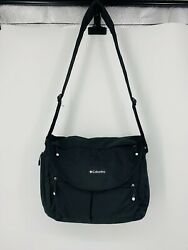 Columbia Outfitter Black Expandable Messenger Diaper Bag $15.99