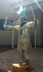 46 Inch Tall Vintage Marvin Martinze Authentic Signed Navajo Kachina Doll