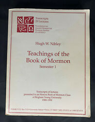 Lds/mormon Teachings From The Book Of Mormon By Hugh Nibley, Semester 1, Farms